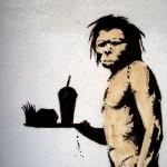 Графити, неандерталец фаст фуд