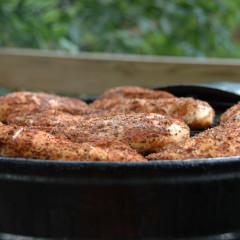 Куриная грудка в панировке из грецких орехов